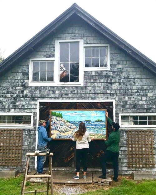 Paintings by Nikki Pilgrim seen at Popham Beach, Phippsburg - POPHAM PENINSULA