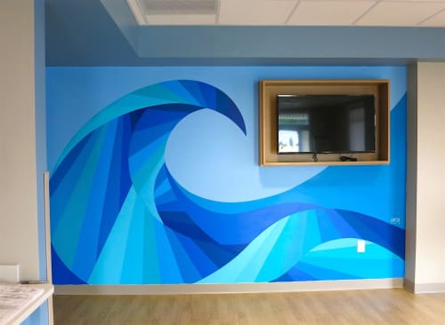 """Murals by Cecilia Lueza Art Projects seen at DaVita Medical Group - Palm Harbor, Palm Harbor - """"Tidal Wave"""""""