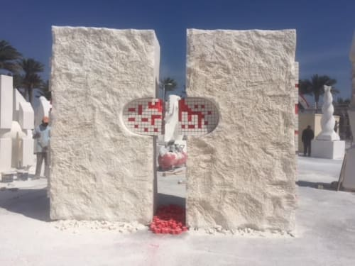 "Public Sculptures by Nicolae Fleissig seen at Hurghada, Hurghada - ""Footprints of a Memory"""