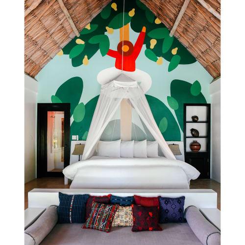 Murals by Cecile Gariepy seen at Matachica Resort Belize, Ambergris Caye - Matachica Murals