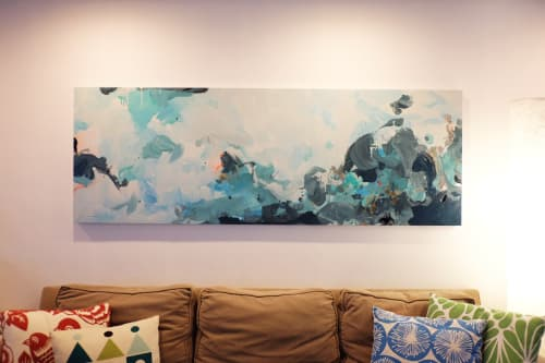 Paintings by Nino Yuniardi seen at Private Residence, Seattle - Broccolini pomegranate salad