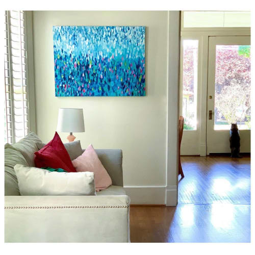 Paintings by Christy Frank seen at Private Residence, Nashville - Abstract Painting