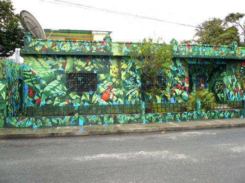 Murals by Frank Hyder Studios seen at Private Residence, Merida - The Return to Nature mural