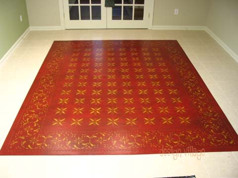 Rugs by Design Village - Art by Neelam seen at San Diego, San Diego - May House Floorcloth