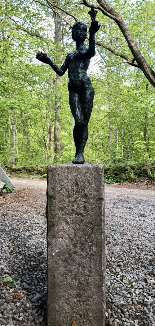 Public Sculptures by Helle Rask Crawford seen at Egeskov Castle, Kværndrup - Which Hand....?