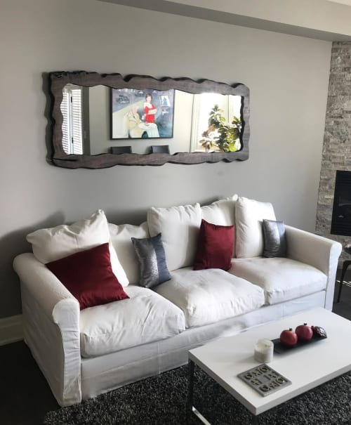 Furniture by Reclaimed From Roots seen at Private Residence, Niagara-on-the-Lake - Live Edge Mirror