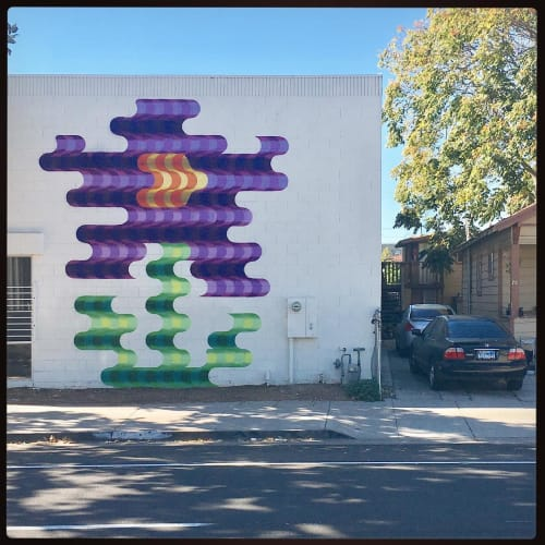 Street Murals by Casey Gray seen at Poor House Bistro, San Jose - Mural