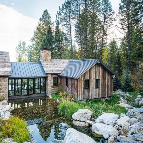 Architecture by JLF Architects seen at Private Residence, Jackson Hole, Jackson - Architecture