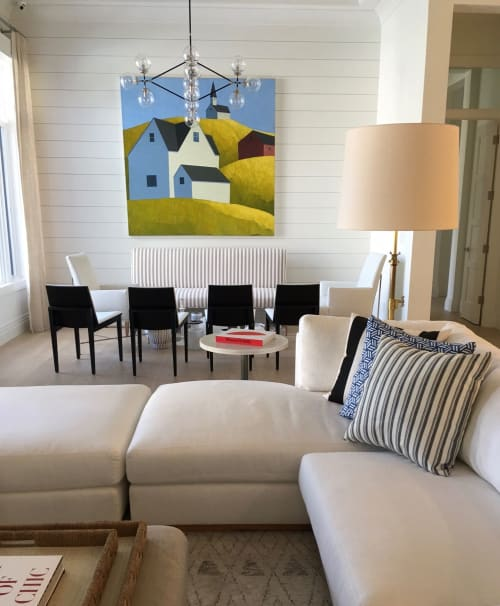 Paintings by Scott Redden seen at Private Residence, Naples - 'Town' original oil painting by Scott Redden