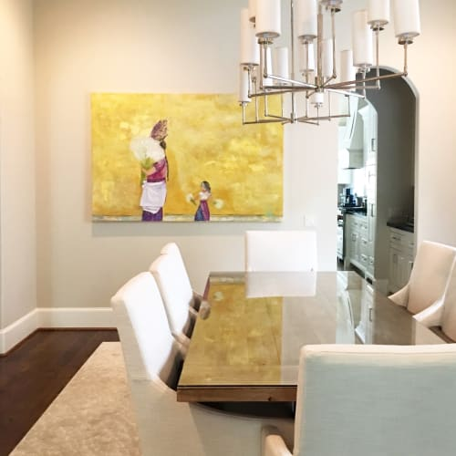 Paintings by Monterroso Studio seen at Private Residence, West University Place - ANTIGUA