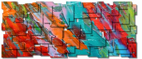 """Palette"" Metal Wall Art Sculpture | Sculptures by Karo Studios"