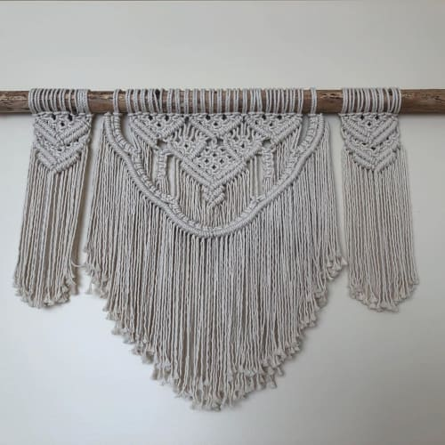 """Macrame Wall Hanging by River Wild Creations seen at Private Residence, North Vancouver - """"Luna"""" wall hanging"""