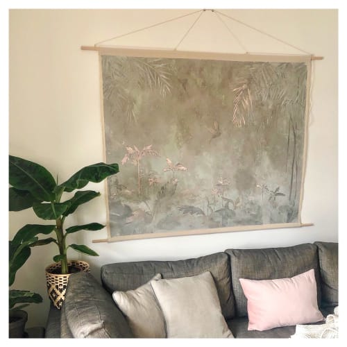 Wall Hangings by Vacarda Design seen at Private Residence, Charlottenlund - Concrete Jungle