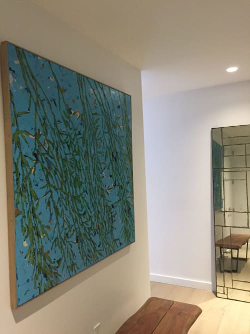 "Paintings by Carson Overstreet Fine Art seen at Private Residence - ""My Neighbor's Weeping Willow"""