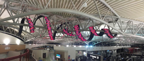 Architecture by Studio Daniel Canogar seen at Tampa International Airport, Tampa - Tendril