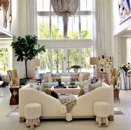 Paintings by Paige Kalena Follmann at Private Residence, Southampton - Figurative Scene Painting in Hamptons Designer Showhouse