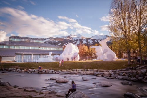 Public Sculptures by Parer Studio seen at Breckenridge Ski Resort, Breckenridge - Intrude Family