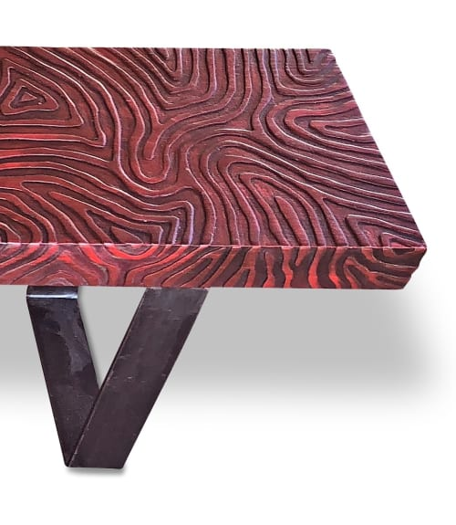 Benches & Ottomans by Andi-Le seen at Private Residence, Aspen, Aspen - Red Topo