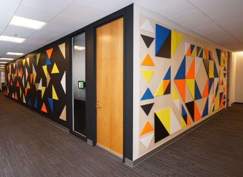 "Art & Wall Decor by ANTLRE - Hannah Sitzer seen at Palantir Technologies, Palo Alto - ""Geometry"""