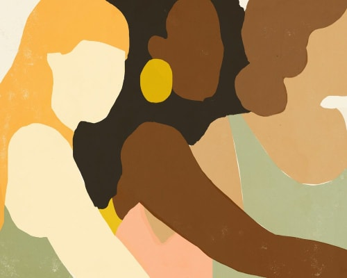 Paintings by Ashley Seil Smith seen at Private Residence, New York - Three Women