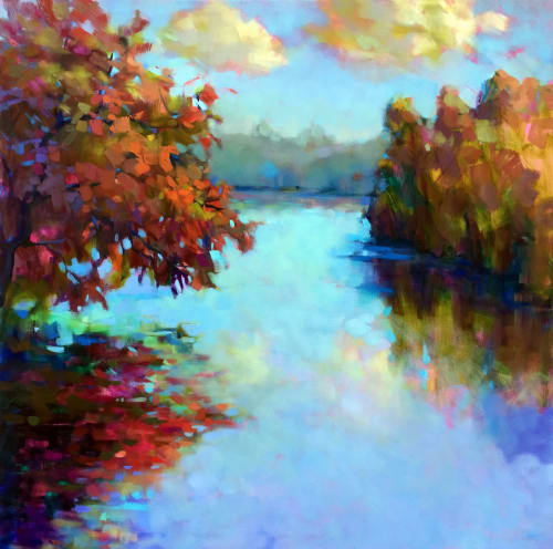 Paintings by Trisha Adams seen at 5300 N Meadows Dr, Grove City - Garnet Reflections