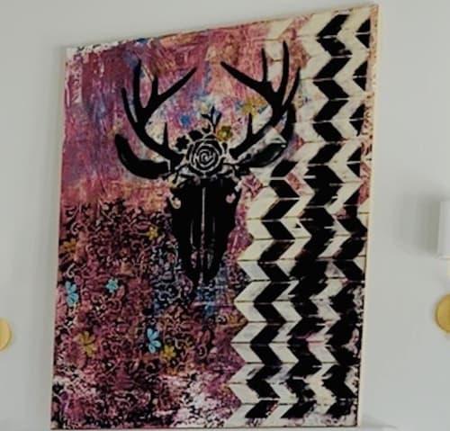 Paintings by Stephanie Dillon Art seen at Private Residence, Eden Prairie - Bull Deer #9