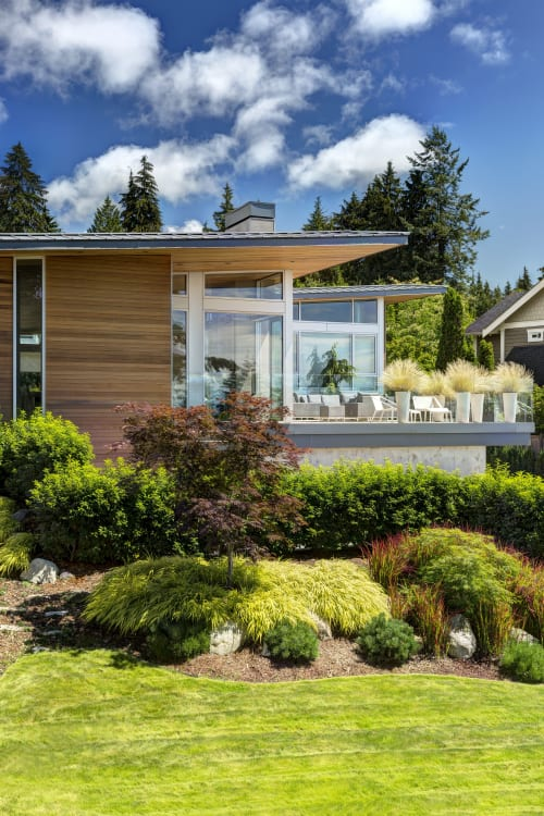 Work by Garret Cord Werner Architects & Interior Designers seen at Private Residence, Vancouver - Garden Wall Residence