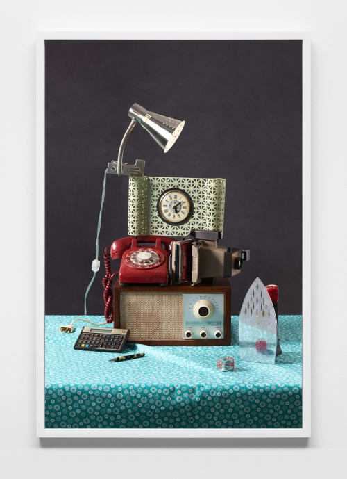 Photography by Jeanette May seen at Shah & Shah Distinctive Jewelers, Washington - Tech Vanitas: Red Phone