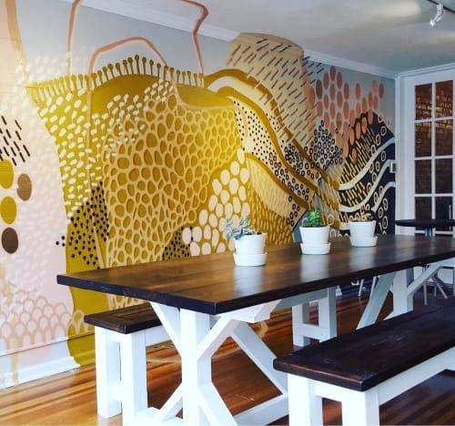 Murals by Tess Erlenborn seen at Umbra Coffee, Gallatin - Interior Mural