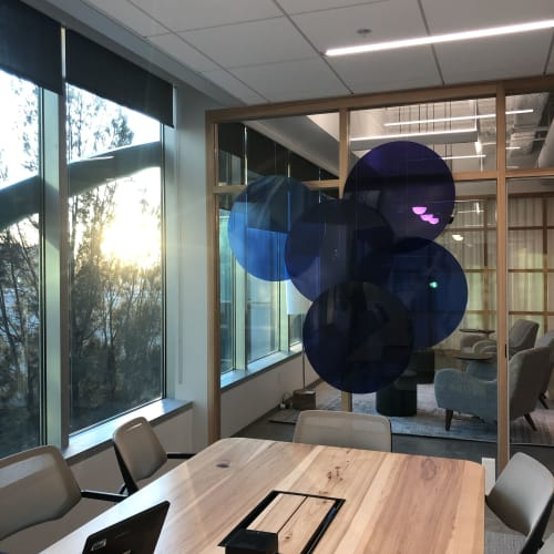 "Sculptures by ANTLRE - Hannah Sitzer seen at Google RWC SEA6, Redwood City - ""Grapes"""