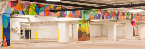Murals by Jorge-Miguel Rodriguez seen at Whole Foods Market, Miami - Whole Foods Market Parking Garage