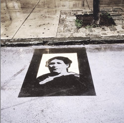 Street Murals by Kim Sillen Art  + Design seen at Tenement Museum, New York - Immigrants of Orchard Street