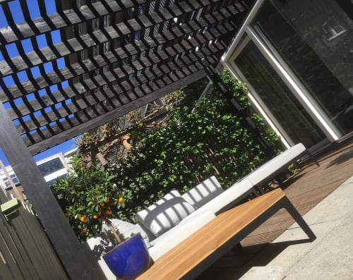 Interior Design by SEAMM seen at Private Residence, Amsterdam - Black Pergola