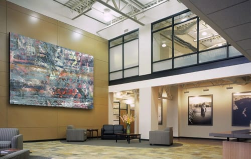 Paintings by DAVID SKILLICORN - American Abstract Painter seen at Corporate Center, Greenfield - Sinfonia