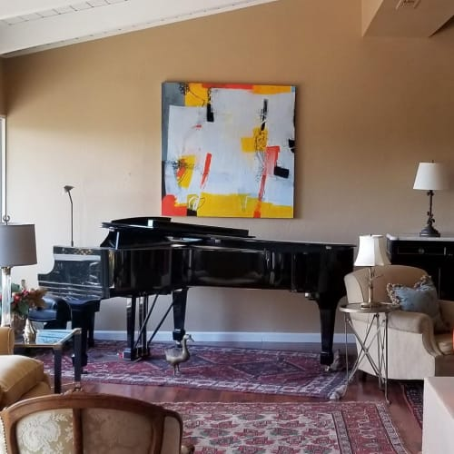 Paintings by Francesca Saveri seen at Private Residence, San Francisco - PillowTalk