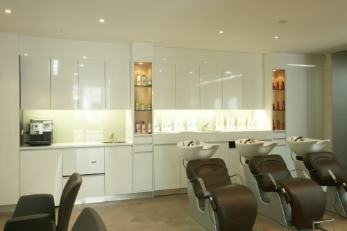 Interior Design by KOEDAM  DESIGN seen at Breakfast Point, Breakfast Point - Hair Salon - Breakfast Point