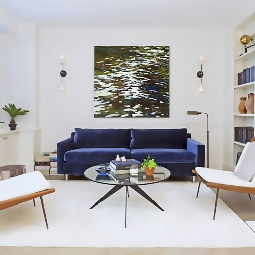 Paintings by Margaret Juul seen at Private Residence, Seattle - River Reflections, Original Painting