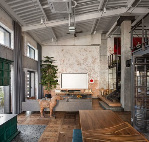 Interior Design by loft buro seen at Private Residence - Hayloft