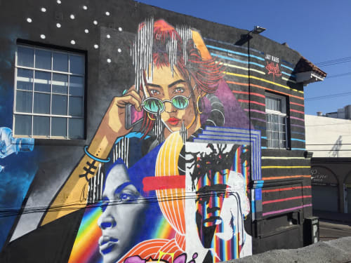 """Street Murals by JAY KAES at Catch One, Los Angeles - """"All in one"""""""