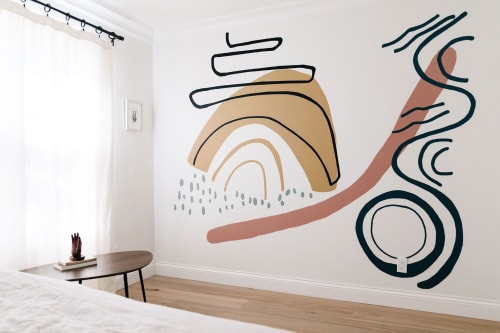 Murals by K'era Morgan seen at Private Residence, Santa Monica - Homestead Wall Mural
