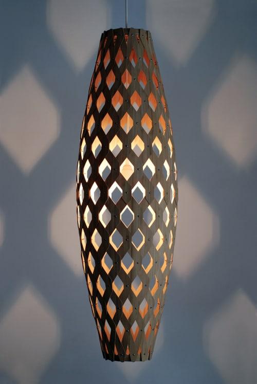 Bamboo Light Hexagonal Cigar 105 | Pendants by ADAMLAMP