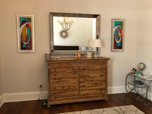 Paintings by Aaron Reed seen at Private Residence, New Orleans - Paintings (Abstract)