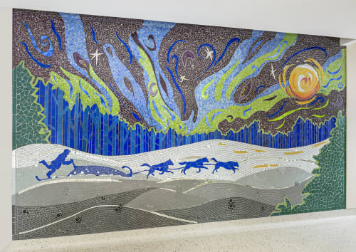Public Mosaics by Stacia Goodman Mosaics at Minneapolis–Saint Paul International Airport (MSP) - Winter Run