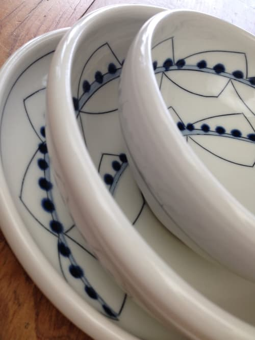 Ceramic Plates by Amy Halko Ceramics at Private Residence, Moreland Hills - Dinnerware set.