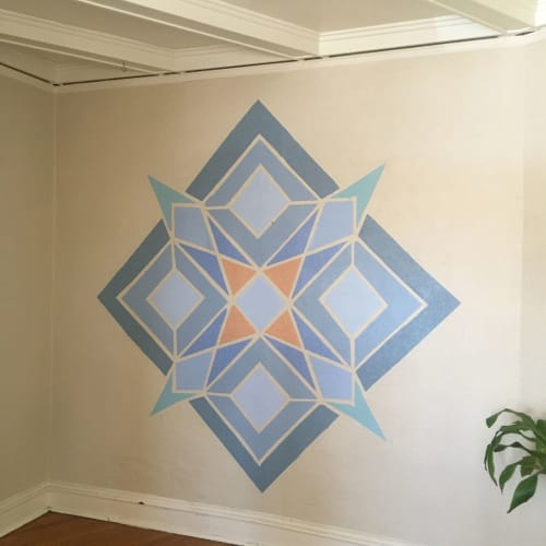 Murals by Bylizetstudio seen at Private Residence, El Paso - Geometric Interior Mural