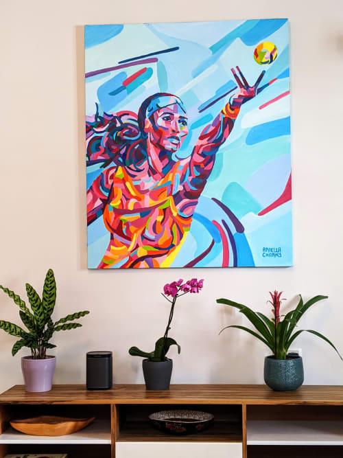 Paintings by Ariella Charny seen at Private Residence, Tel Aviv-Yafo - Serena Williams