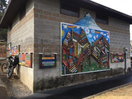 Street Murals by Macrae Wylde seen at Eugene Street & 9th Street, Hood River - Mural