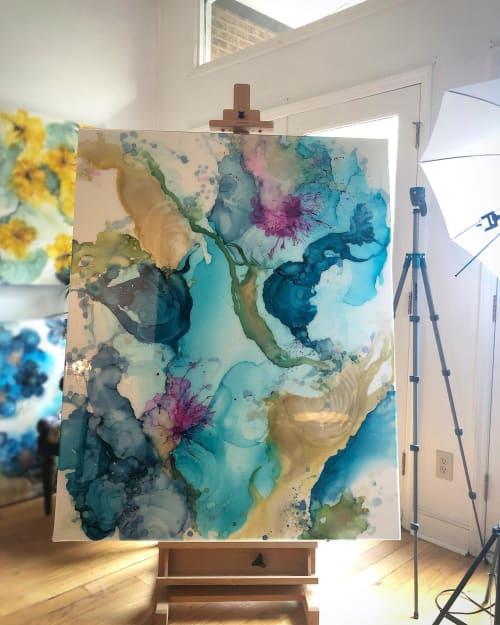 Paintings by Amanda M Moody seen at Private Residence, Atlanta - summertime rolls