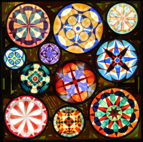 Sandblasted stained glass panel   Art & Wall Decor by Kate Gakenheimer Stained Glass