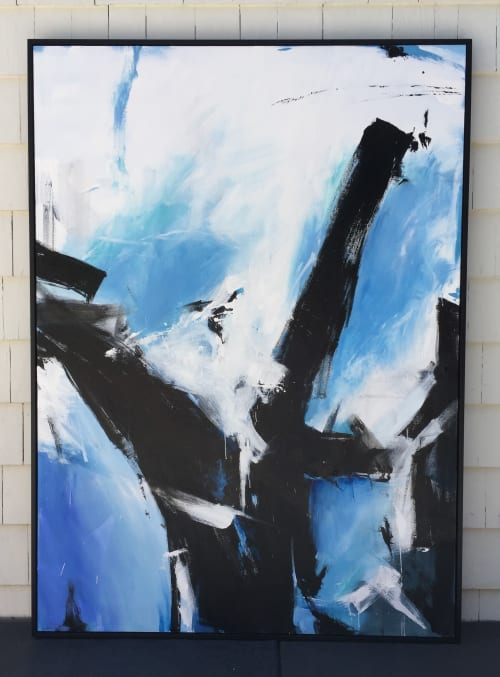 """Abstract painting """"Breakwater on the Sound"""" 